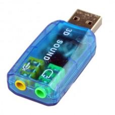 Звуковая карта 3D Sound USB 2.0