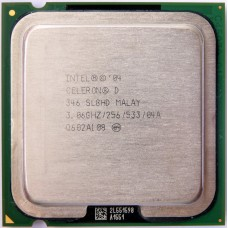 CPU Intel Celeron D 346 (3.06 GHz/1core/256K/84W/533MHz LGA775)
