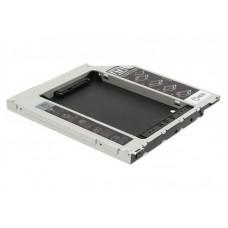 Переходник под винчестер 2.5 в отсек для привода ноутбука SATA, толщина  12.7мм Optibay