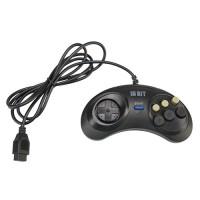 Джойстик Sega Controller Turbo Black узкий разъём 9 пин