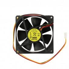 Вентилятор для корпуса 80x80x25 втулка 3pin 30см провод FANCASE