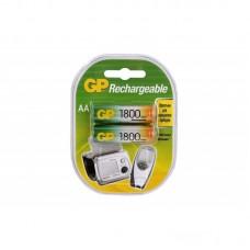 Аккумуляторы GP 2шт, AA, 1800mAh, NiMH (180AAHC-UC2)