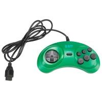 Джойстик Dendy Controller (форма Sega) 9р узкий разъем цвет зелёный