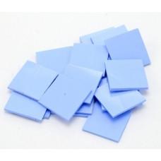 Термоинтерфейс толщиной 1.0 мм 20*20мм 3,0W AoChuan синяя TP300