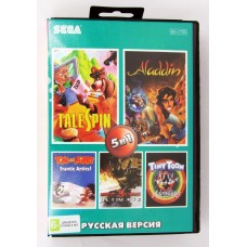 Картридж сега 05в1 AB-5014 MK Ultimatum /Aladdin /TOM & JERRY /TALE SPIN +