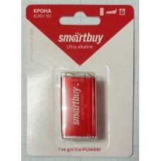 Батарея Крона Smartbuy 6LR61/1B алкалиновая