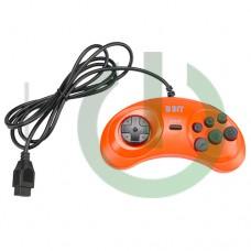 Джойстик Dendy Controller (форма Sega) 9р узкий разъем цвет оранжевый