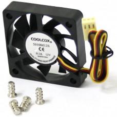 Вентилятор Coolcox 50x50x10 5010M12S (3pin, Black)