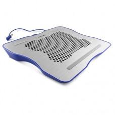 Охлаждающая подставка для ноутбука CROWN CMLC-1001 silver&blue (до 15,6  , материал металл Вес 530