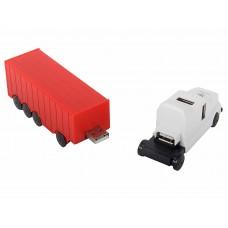 Хаб USB 2.0 Konoos Концентратор UK-41, 4 порта USB грузовик, блистер