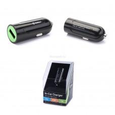 Автомобильное зарядное устройство Zetton с выходом USB ток зарядки 1А черное с вставкой