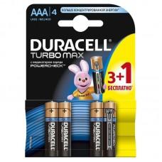 Батарея Duracell TURBOMAX LR03-4BL AAA (4шт.уп)