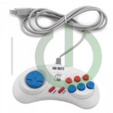 Джойстик Sega Controller Turbo White узкий разъём 9 пин