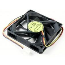 Вентилятор для корпуса 80x80x15 втулка 3pin