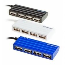Хаб USB 2.0 HUB Smartbuy 4 порта чёрный (SBHA-6110-K)