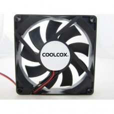 Вентилятор Coolcox 120x120x25  12025M12S (3pin + 4pin molex, Black Sleeve 1500+10%RPM)