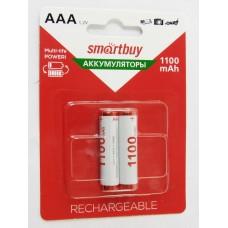 Аккумуляторы Smartbuy NiMh AAA/2BL 1100 mAh (24/240) (SBBR-3A02BL1100) ЦЕНА УКАЗАНА ЗА 1 ШТУКУ!!
