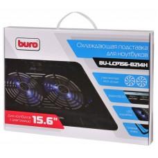 Охлаждающая подставка для ноутбука Buro BU-LCP156-B214H 15.6355x255x30мм 2xUSB 2x 140ммFAN 657г мет