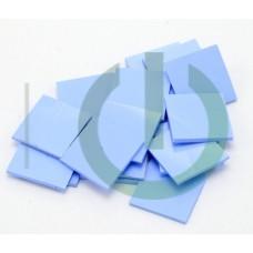 Термоинтерфейс толщиной 0.5 мм 20*20мм 3,0W AoChuan синяя TP300