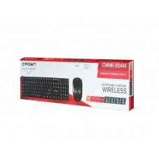 Беспроводной набор CMMK-954W,  USB, черный, 126 клавиш, 10 мультимедийных, мышь soft-touch