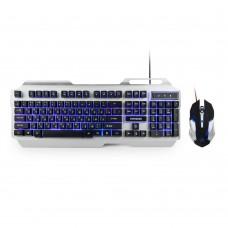 Игровой комплект Горнизон GKS-510G клавиатура+мышь, проводные,металл,подсветка, код Survarium, USB
