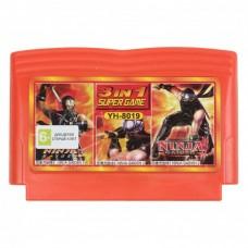 Картридж денди 003в1 YH 8019 Ninja Gaiden 1+2+3