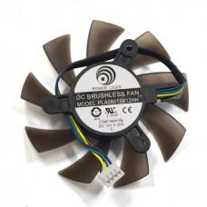 Вентилятор для видеокарты 75mm 4-pin PLA08015B12HH DC 12 V 0.35A