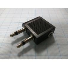 Переходник на гарнитуру с разъёма наушников и микрофона 3.5х2 на 3.5 Jack