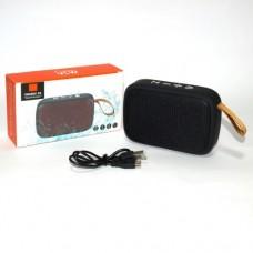 Колонка беспроводная Bluetooth CHARGER G2+ с металлической сеткой MicroSD/USB/AUX/FM (черная)