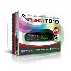 Приставка для цифрового телевиденья Selenga T81D(Дисплей)1080p@60 DVB-C,DVB-T2,DVB-T,HD/SD,MPEG2/MPE