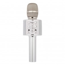Микрофон-колонка караоке Bluetooth BK3 Cool Sound KTV USB 5 Вт (серебряный)