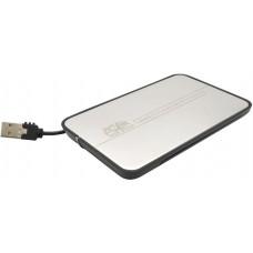 Внешний корпус AgeStar SUB2A8 (SILVER) USB2.0, алюминий, черный, безвинтовая конструкция, крышка из