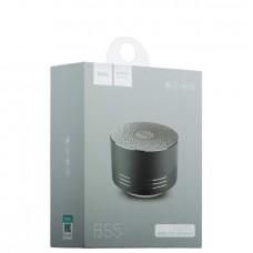 Колонка беспроводная Bluetooth HOCO BS5 Swirl Wireless Speaker USB/MicroSD 3 Вт (серая)