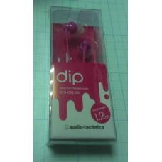 Наушники (ATH-CKL200) розовый (упаковка блистер) PK
