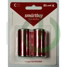 Батарейка алкалиновая Smartbuy LR14 2шт в блистере