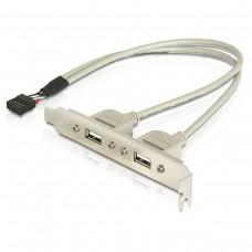 USBx2 вывод на заднюю панель