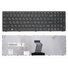 Клавиатура БУ для ноутбука Lenovo G570 B570 Z570 G780 Series  Black  крепление дальше от шлейфа