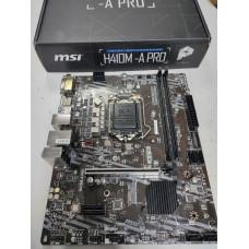 MSI H410M-A PRO (RTL) LGA1200 H410 PCI-E DVI+HDMI GbLAN SATA MicroATX 2DDR4